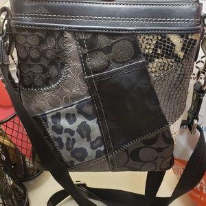 COACH Patchwork Swingpack Messenger Crossbody Bag